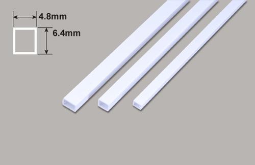 Rechteck Rohr - 6.4 x 4.8 x 375mm Plastruct