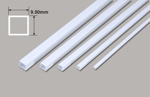 Vierkant Kunststoffrohr - 9.50 x 9.50 x 375mm Plastruct