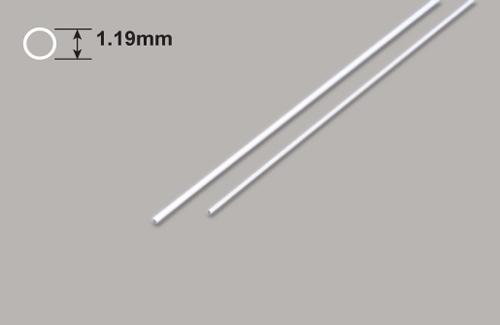 Kunststoff Rundrohre 1.19 Durchm. x 375mm Plastruct