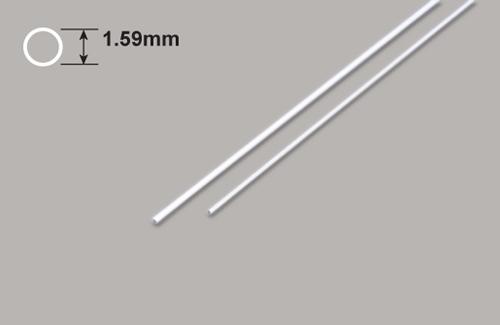 Kunststoff Rundrohre 1.59 Durchm. x 375mm Plastruct