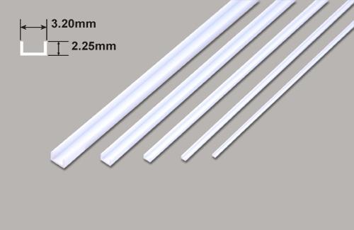 U Profil - 3.20 x 2.25 x 375mm Plastruct