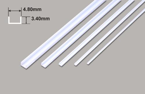 U Profil - 4.80 x 3.40 x 375mm Plastruct