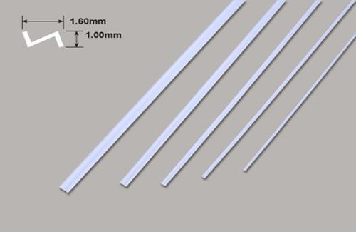 Z Profil - 1.60 x 1.00 x 250mm Plastruct