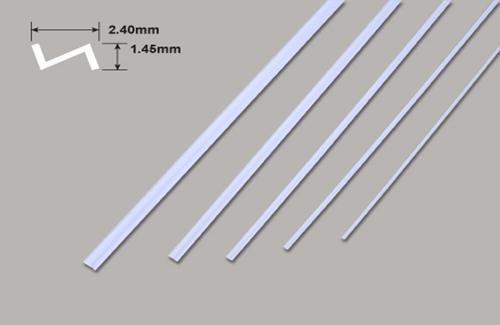 Z Profil - 2.40 x 1.45 x 250mm Plastruct