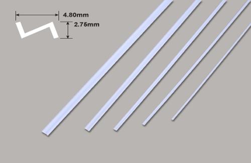 Z Profil - 4.80 x 2.75 x 375mm Plastruct
