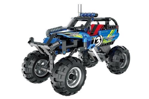 Teknotoys Active Bricks Pullback Off-Road Fahrzeug blau Teknotoys 85000062