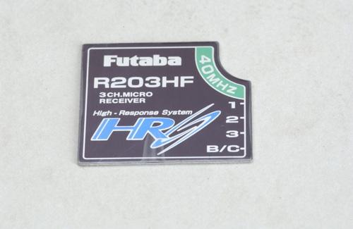 Futaba Empfänger Etikett R203HF