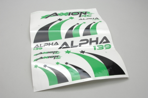 Dekor Set (Grn-Schwarz) Alpha 139 2 AXRC Z-AX-00210-120