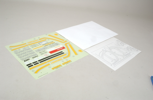 LM Dekorbogen (Gelbe Linien) Hirobo Z-H0402-352