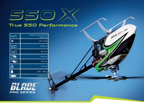 Blade 550 X Pro Series Kombo Horizon BLH5525C