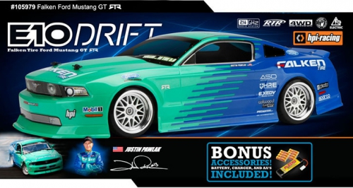 E10 Drift RTR Falken Tire Ford Mustang hpi racing H105979