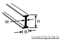 BFS-8 Doppel-T-Profil 6,4x3,2x610mm (5) Krick 190516