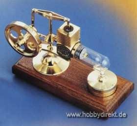 Stirlingmotor Gold montiert Krick 22100