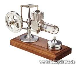 Stirlingmotor Alu montiert Krick 22102