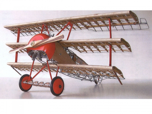 Fokker DR1 Dreidecker 1:16 Standmodell Krick 24040