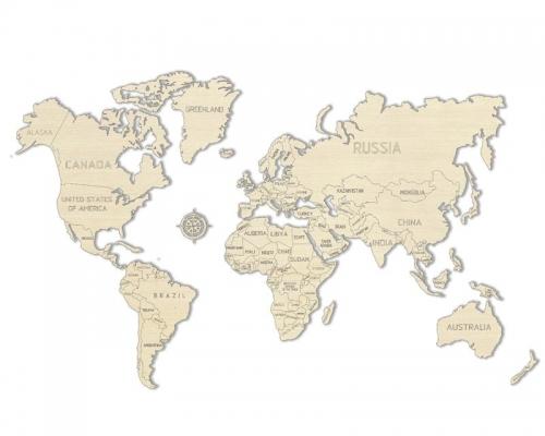Weltkarte L  3D-tec Bausatz Krick 24992