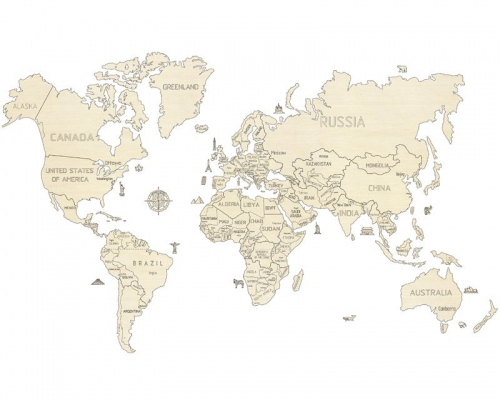 Weltkarte XXL  3D-tec Bausatz Krick 24995