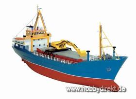 Küstenfrachter 4-Luken Baukasten Krick 28017