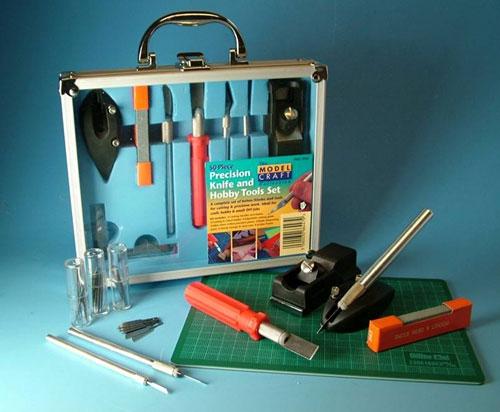 Messer+Werkzeugsatz 50-teilig mit Scheidmatte Krick 444220