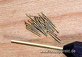 Messingnägel für Nagelhalter 0,5x10mm (150 St.) Krick 473842