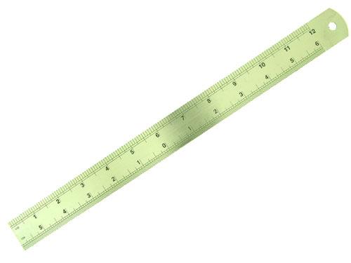 Stahl Lineal 360 mm m. Maßstab 1:12+1:24 Krick 490062