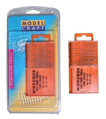 Microbox 20 HSS Bohrer 61-80 Wire Gauge Krick 492046