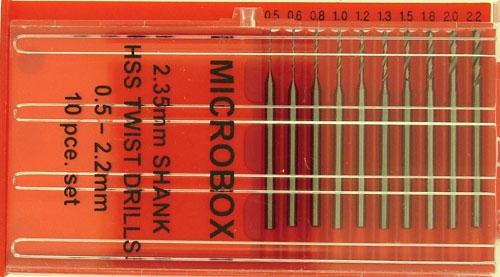 Microbox 10 Bohrer 0,5-2,2 mm m. 2,35 mm Schaft Krick 492047