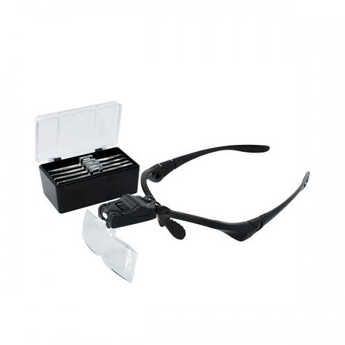 Lupenbrille mit 5 Linsen und LED Beleuchtung Krick 492275