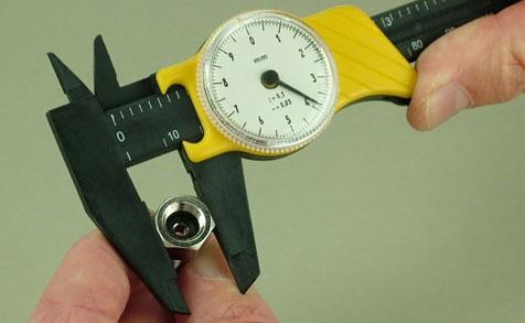 Schieblehre mit Meßuhr 150 mm Krick 492303