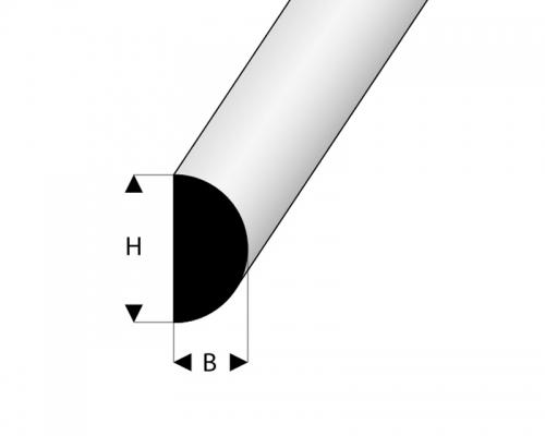 Scheuerleiste 9x9x2000 mm Moosgummi Krick 63255