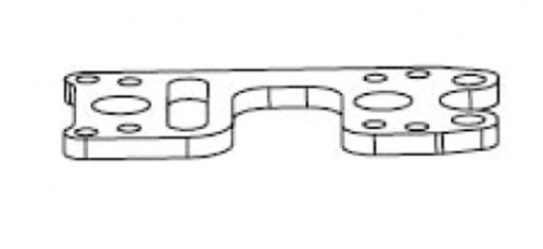 Platte oben Mitteldifferential/Lager CNC gefräst Krick 648048