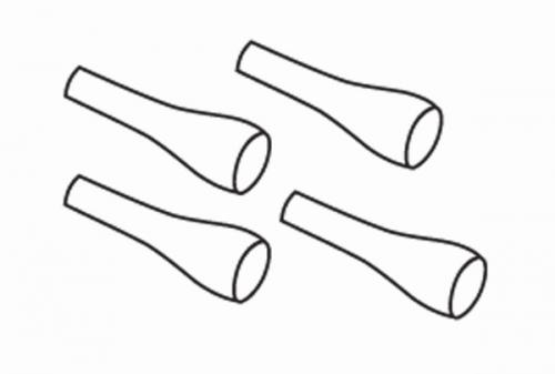 Staubschutz Stoßdämpferwellen (4) Krick 648070