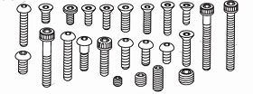 Schraubensatz für Nitro Buggy kpl (243 Teile) Krick 648106