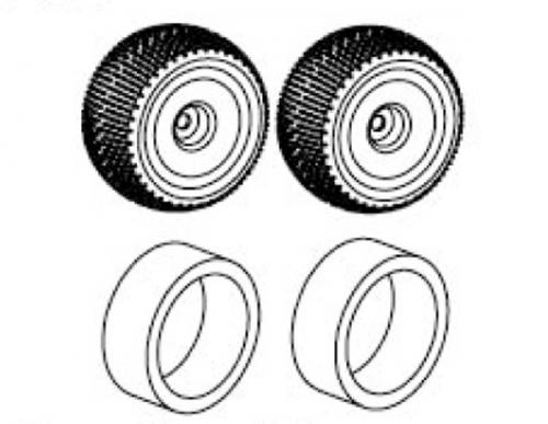 Reifen mit Einlagen Truggy 1:8 (Paar) Krick 648175