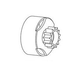 Kupplungsglocke 14 Zähne CNC Krick 648246