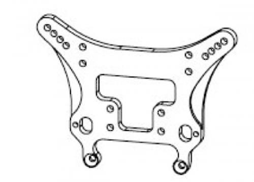 Hintere Stoßdämpferplatte Krick 648262