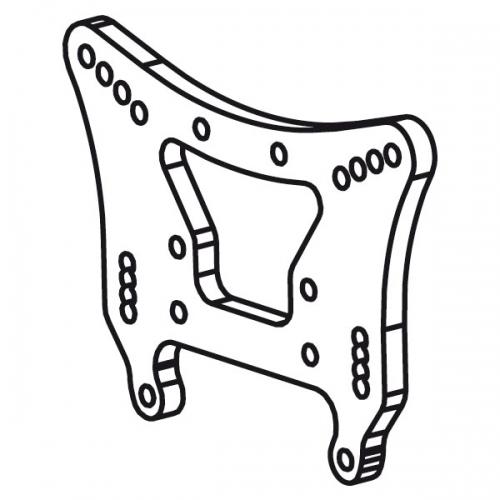 Stoßdämpferhalteplatte vorne MT Raider Krick 655144