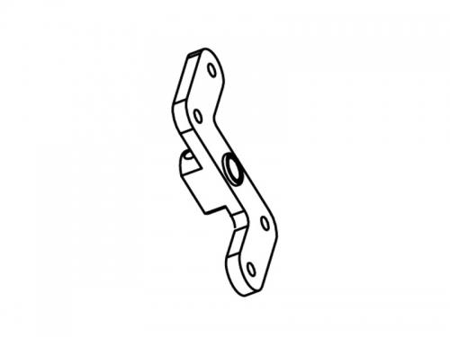 Aluminium Getriebehalterung einteilig   MX400 Krick 655930