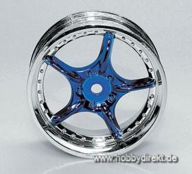 Felge 10 Chrome/Blau (4) Krick 669392