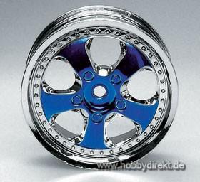 Felge 06 Chrom/Met.blau (4) Krick 669402