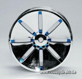 Felge 04 Chrome/Blau (4) Krick 669412