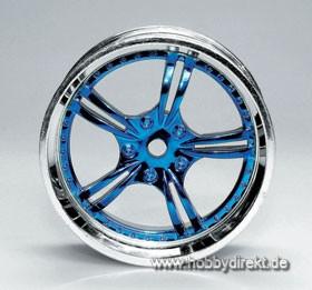 Felge 07 Chrome/Blau (4) Krick 669442