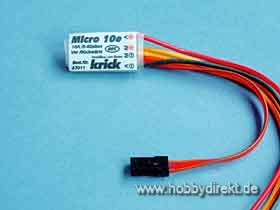 Elekt. Fahrtregler Micro10e VR Krick 67011