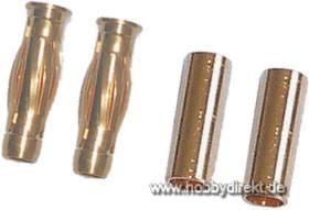 4mm Goldk.Stecker (2) + Buchse (10) Krick 67514