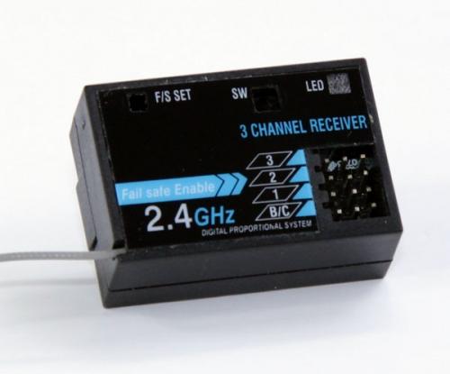 Himoto Empfänger 2.4 GHz  3 Kanal blau Krick 79086