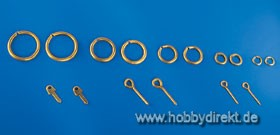 Messingringe 7mm (ca 100 Stck.) Krick 832830