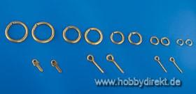 Augbolzen 3x12mm Messing (10 Stck.) Krick 833060