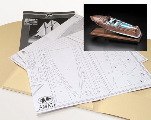 Bauplan Sportboot (RIVA)  1:10 Krick 91284