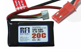 RFI Lipo 2S20C-500 7,4V/500mA Krick 950570