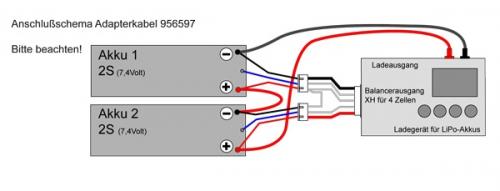 XH-XH Adapter 2x2P auf 4P Krick 956597